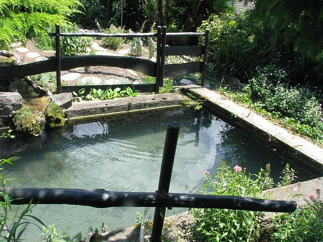 Les bassins du jardin de la source g te rural french g te france rh ne alpes is re grenoble - Bassin balcon poisson grenoble ...